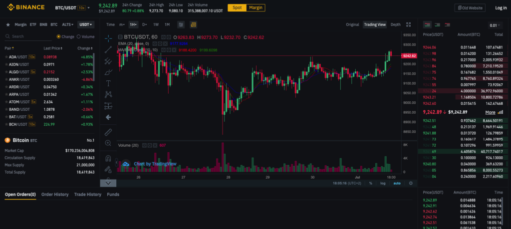 binance screen