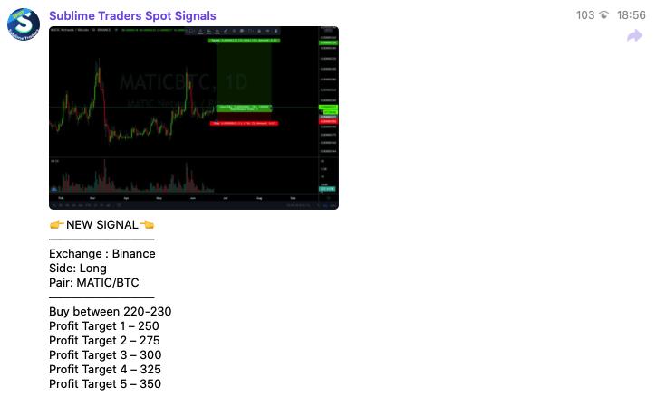 binance signal screen
